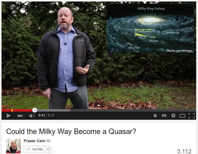La nostra galassia potrebbe diventare un quasar ?