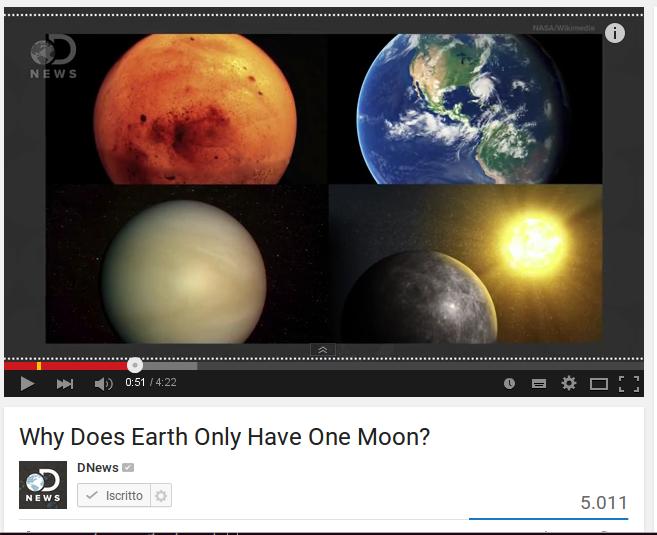 Perché la Terra ha una sola luna?