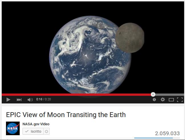 La Terra vista dal punto di Lagrange L1