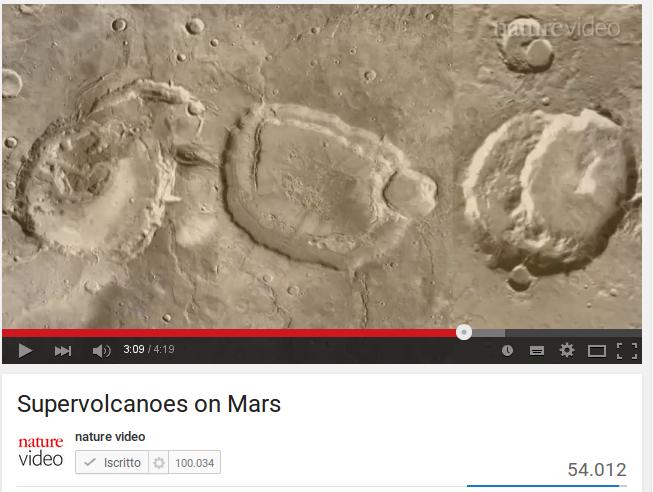 Supervolcanoes on Mars