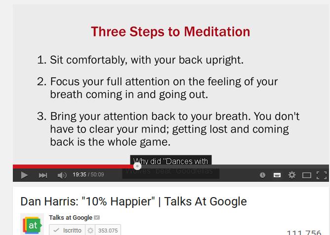 Introduzione alla meditazione mindfulness