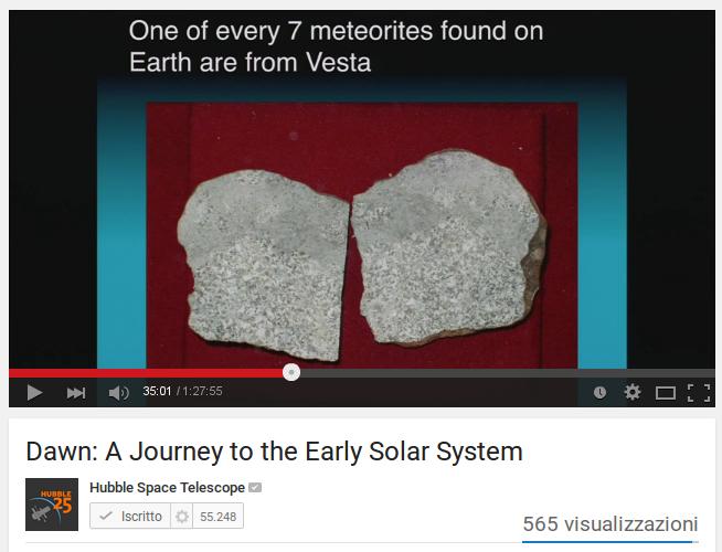 Il viaggio di Dawn tra gli asteroidi