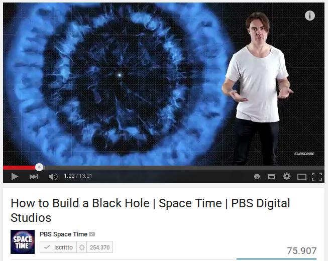 Come costruire un buco nero
