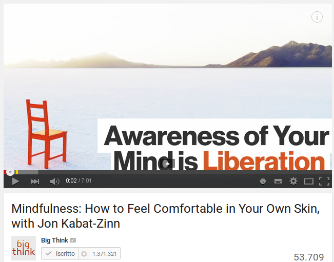 Introduzione alla meditazione mindfulness di Jon Kabat-Zinn