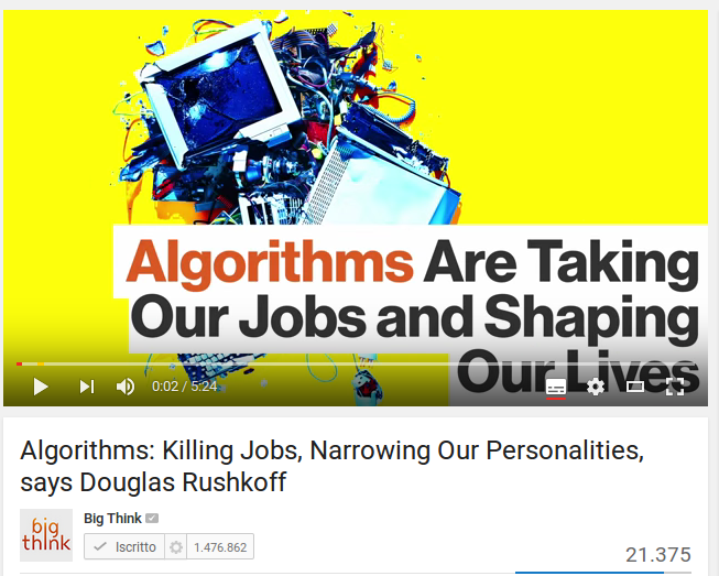 Algorithms: Killing Jobs, Narrowing Our Personalities