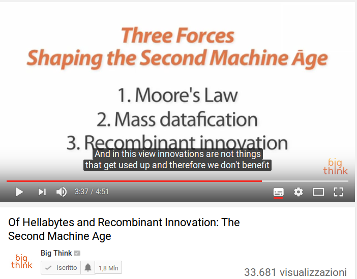 Of Hellabytes and Recombinant Innovation: The Second Machine Age