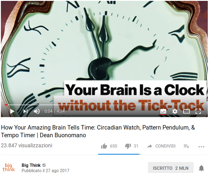 Il cervello come macchina per viaggiare nel tempo