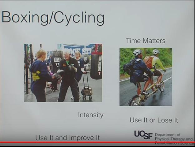 Esercizio fisico nel Parkinson : la boxe e il ciclismo