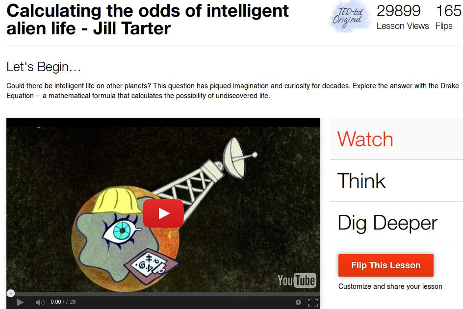 Calcolare le probabilita' dell'esistenza di vita intelligente