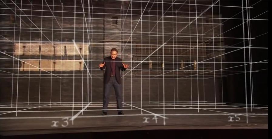 Lo spazio come palcoscenico di Newton
