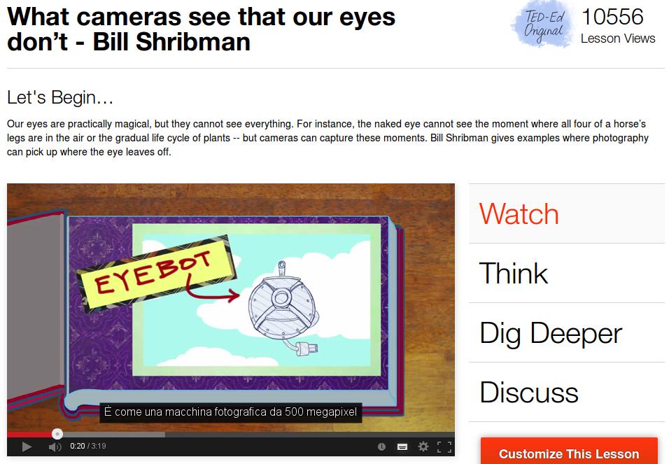 La risoluzione dell'occhio umano? 576 megapixel