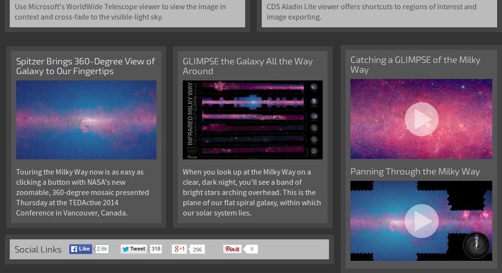 GLIMPSE360 : la Galassia della Via Lattea come non l'avete mai vista
