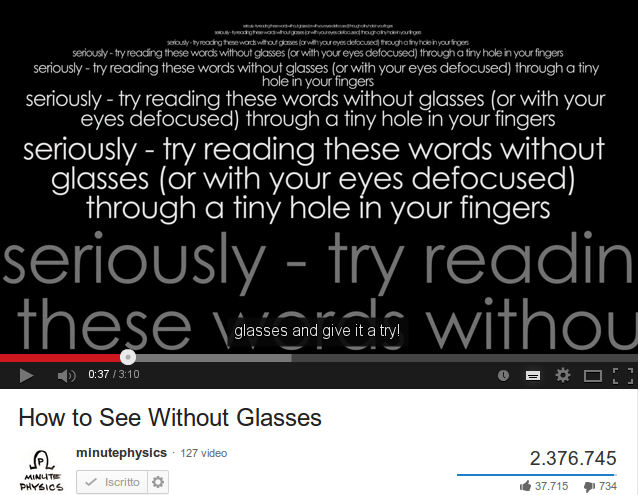 Come vedere senza occhiali