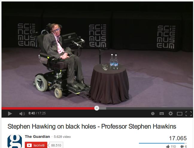 Stephen Hawking on black holes