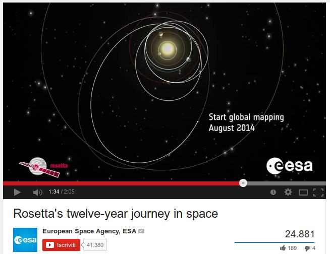 Rosetta la cacciatrice di comete