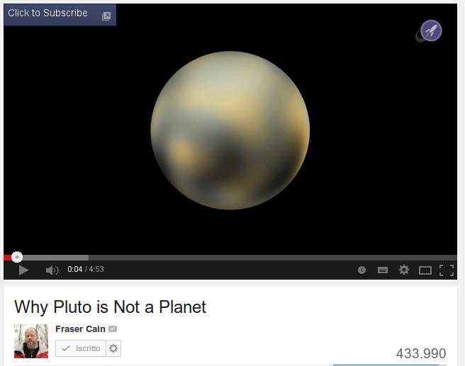 Perche' Plutone non e' piu' un pianeta