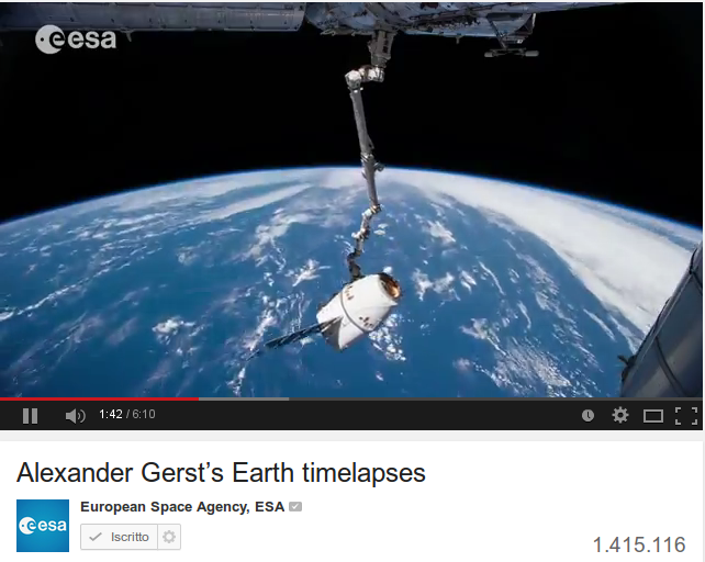 Alexander Gerst's Earth timelapses