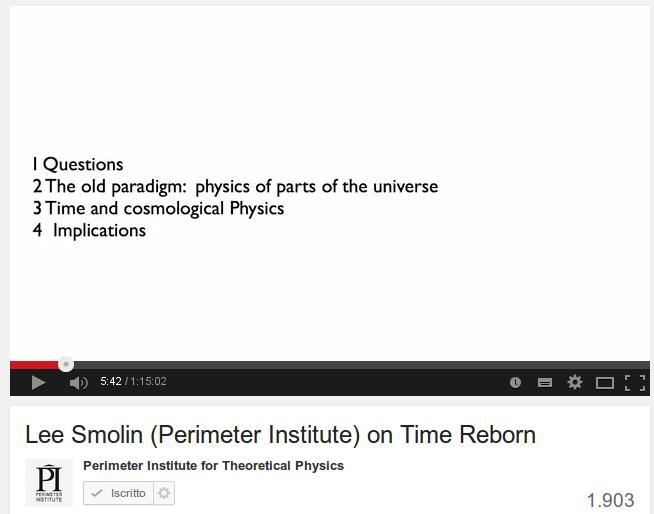Lee Smolin (Perimeter Institute) on Time Reborn