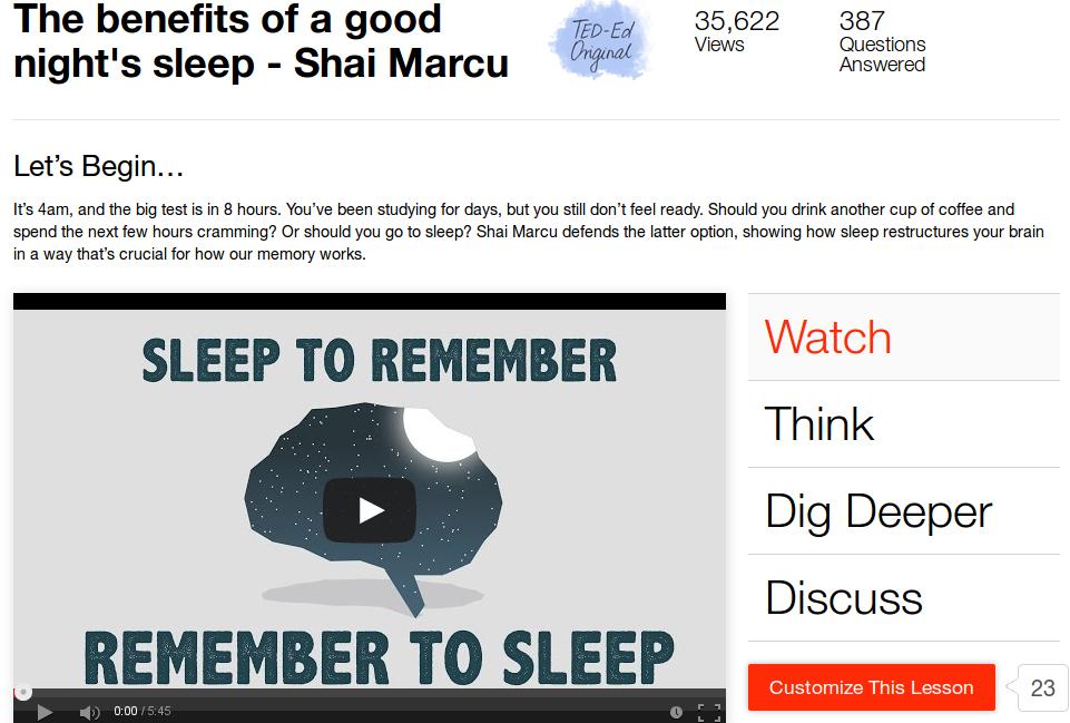 Dormire per ricordare