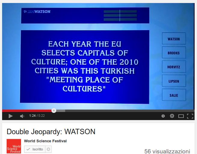 Double Jeopardy: WATSON