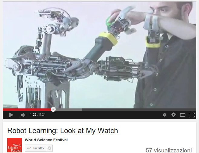 Robot Learning: Look at My Watch