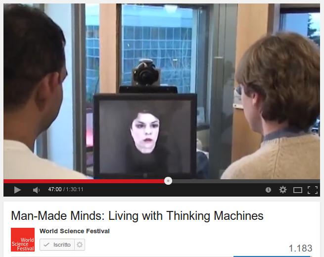 Robot come coach personali sullo schermo del computer